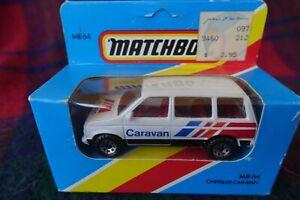 MATCHBOX MB64 Chrysler Caravan white (MIB) 1981 Macau Pale Blue Box