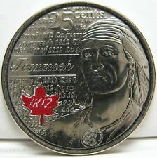 Tecumseh Uncirculated Non-colorized 2012-25-cents RCM