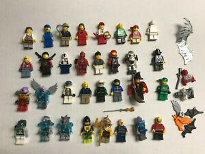 Lego 30 Mini Figure Lot - 100% Authentic Ninjago Chima Space City MiniFigs