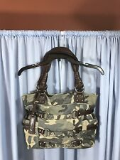 B Makowsky Blue Camo Shoulder bag.