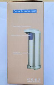 Hanamichi Automatic Soap Dispenser in Stainless Steel, Infrared Motion Sensor,