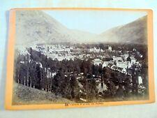 OLD ALBUMEN/CABINET CARD: LUCHON~PARC DES THERMES~ca 1875~PHOTO: E. SOULÉ