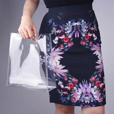 Clear Vinyl Plastic Bag Tote Shopper Carrier Handbag Transparent PVC Medium