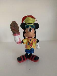 Disney Parks Mickey Tourist Christmas Ornament Goofy Turkeyleg Rare