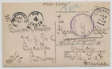 India 1915 Nov 13 picture postcard censored Bombay from Malabar Hill to USA due