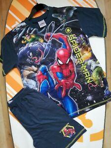Boys Marvel The Spider Man Disney Store Short Summer Pyjamas size 3-4 years
