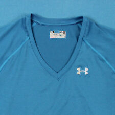 UNDER ARMOUR T Shirt ~ Women XS │ Semi-Fitted Blue Athletic Heat Gear Run Tee
