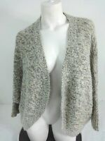 NWT ATTENTION WOMENS WHITE & GRAY WITH GOLD ACCENT OPEN CARDIGAN SWEATER SIZE XL