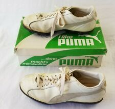 vintage PUMA all turf white shoes cleats size 5.5 5-1/2 in box used rare