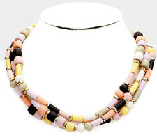 MARNI H&M  Multi Standard Wood Beaded Layered Necklace
