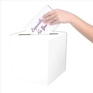 "10"" White Wishing Well Wedding Money Box Memory Cards Reception Centerpiece Box"