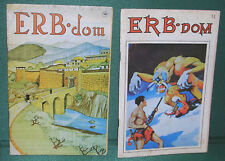 ERB-dom, Two Issues-Nos. 50 and 51-Lost Cities of Tarzan, Burroughs First Eds