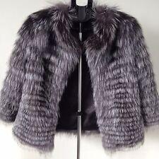 NEW! Silberfuchs Fuchs Pelzjacke Pelzmantel bontjas fur coat S 36 XS 34