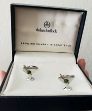 NWT Dolan Bullock Jade Martini Glass Cufflinks