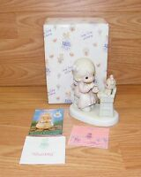 Enesco Precious Moments (PM942) 1994 Members Only Sharing Figurine & Box *READ*