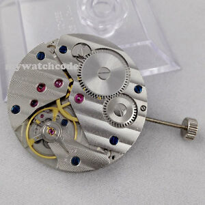 17 Jewels 6497 mechanical hand winding mens classic vintage watch movement M02