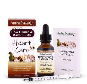 Amber Naturalz - Hawthorn & Dandelion Heart Care Powerful Herbal Pet Care, 1oz