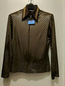 HOBBY HORSE Woman's L ~Limited Edition Horse Show Top Shirt Rail Jacket Brown