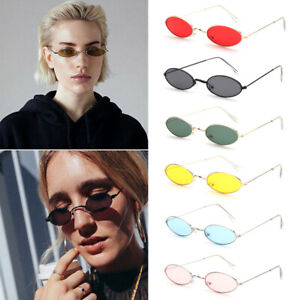 Small Vintage Oval Sunglasses Retro Tint Clear Lens Sun Glasses Shades Men Women