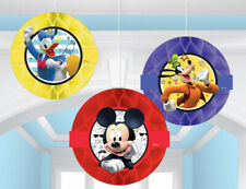 MICKEY MOUSE BIRTHDAY PARTY HANGING HONEYCOMB DANGLERS SUPPLIES DECORATIONS