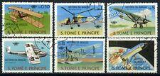 San Tommaso e il principe Isole 1979 Mi. 592-597 Usato 100% storia dell'Aviazio