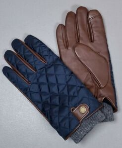 POLO RALPH LAUREN Gloves Quilted Sheep's Leather Wool Men's XL Brown