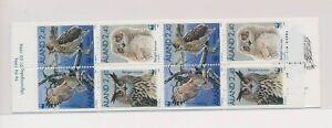 LO37748 Aland 1996 WWF owls animals fauna birds good booklet MNH