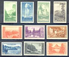US Stamp (L1471) Scott# 756-765, Mint NH, Nice Imperf National Parks Set