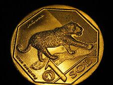 2018  Peru Coin 1 Sol  JAGUAR  nice animal coin  world coins  UNC