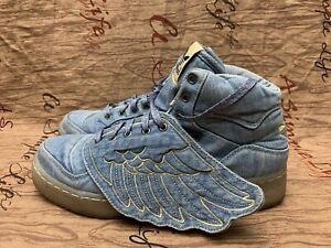 Adidas Originals sneakers Jeremy Scott Wings Denim shoes v24621 size 8.5