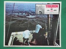 JAWS STEVEN SPIELBERG SHARK ATTACK TIBURON ORIGINAL SPANISH MEXICAN LOBBY CARD 1