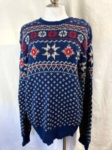 Polo by Ralph Lauren Nordic Style Sweater Button Shoulder Unisex Skiing Winter