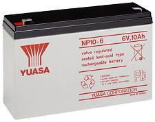 NP10-6 Yuasa Valve Regulated Lead Acid Rechargeable battery 10Ah 6v