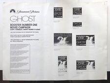 "GHOST 1990 Press Sheets x 2  24""x19"" Patrick Swayze, Demi Moore, Whoopi Goldberg"
