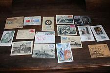 Lot de 16 anciennes cartes 1er jours et enveloppe - Maximum