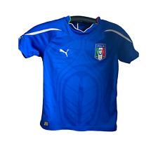 Italy Puma National Soccer Football Team short sleeve jersey  Boys Sm-Med Used