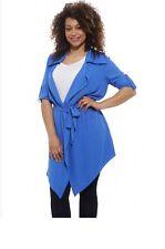 Lovedrobe Roll Sleeve Safari Jacket Blue Size UK 16 DH077 KK 15