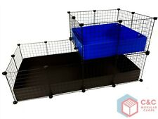 TWO TIER GUINEA PIG C&C CAGE 4x2 + LOFT 2x2 - 2 CORREX TRAYS INCLUDED