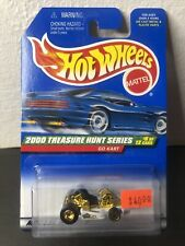 Hot Wheels 2000 Treasure Hunt - White & Gold Go Kart w/Real Riders #6 of 12 LE