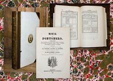 1853 Militaria Spagna pionieri Ponton Eros Ibanez Manual del pontonero