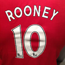 Wayne Rooney Red Manchester United FC Euro Cup #10 Soccer Football Club Jersey