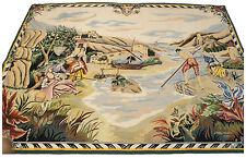 FR-3491-Aubusson Tepester Tapis Arazzo abosson 205x150 CM -Galleria farah1970
