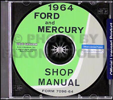 1964 Ford Galaxie e Mercury Negozio Manuale CD Monterey Montclair Parklane