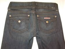Hudson Jeans Signature Bootcut Low Rise w Flap Pockets Dark Distressed Sz 28