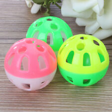 3Pcs Durable Pet Toy Dog Cat Parrots Pet Chew Sound Training Ball Bell  Ra F5X3