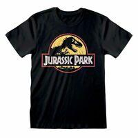 Jurassic Park Yellow Logo T Shirt Official Orginal Classic Dinosaur Movie