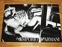 RIHANNA PROMO WERBE POSTER 3 BY EMPORIO ARMANI / 70 x 50 CM MEGA RAR MINT NEU