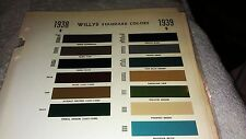 1938,1938 Willys  paint chip chart