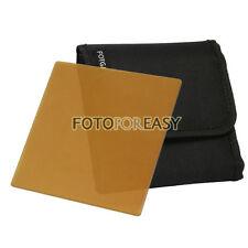 """FOTGA 4 X4"""" Square Brown Color filter for Matte box Cokin Z Hitech Lee holder"""