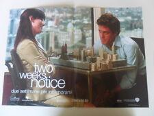 "LOCANDINA FILM ""TWO WEEKS NOTICE - DUE SETTIMANE PER INNAMORARSI""  (B)"